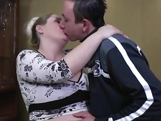 Blonde Pregnant BBW-Milf fucked by young Guy_240p