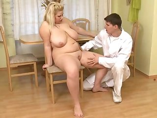 Hard dick from doctor fucks fatty