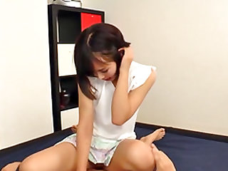 Cutie Akane Aoi revealing her small tits and getting banged