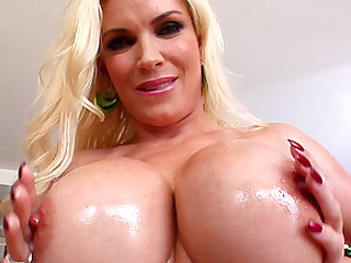Diamond Foxx is a hot blonde who cannot resist  big boner