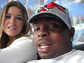 Gorgeous babe Katie Thomas gets fucked by a good-looking black man