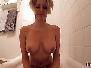 Brett Rossi masturbates in bubble bath