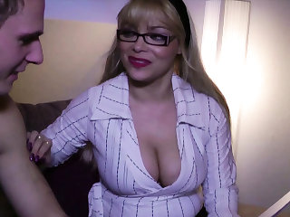 German Big Tits Step Mom love to Fuck her Young Son