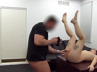 Taking her ass for the first time causes anal pain