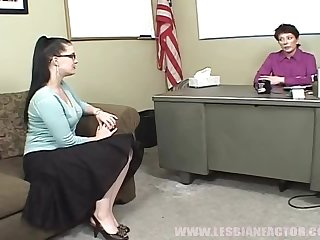 Randy School Principle Gives A Student Her First Taste Of Lesbian